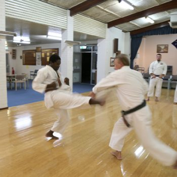 Western Australian karate instructors - Edward at Maylands dojo
