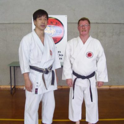 Victorian karate instructors - Kasuya Sensei with Sensei John McIntosh