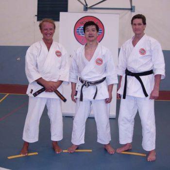 Western Australian karate instructors Senseis-Mutton-Kasuya (Japan) & Smith (France) Perth 2009