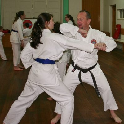 Victorian karate instructors - Steve Jones training