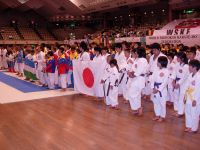 Line up of all teams at the start of the 2009 WSKF World Championships in Tokyo