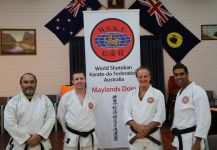 Maylands instructors Senseis Osmar, Nathan, Howard and Mark