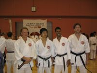Perth team members with Kasuya Sensei after the 2004 WSKF training seminar in 2004