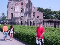 Sensei Howard at the A-bomb site in Hiroshima 2009