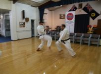 Sensei Osmar and Michal sparring