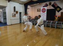 Sensei Osmar and Michal sparring