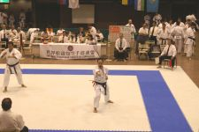 Sensei Stephen Hol competing in kata at the 2007 WSKF World Championships in Tokyo