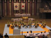 Taiko drum demonstration at the 2004 WSKF World Chamionships in Tokyo