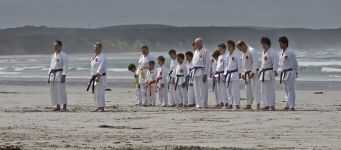 Karate training on the beach at Portland Victoria 1