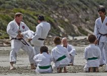 Karate training on the beach at Portland Victoria 3