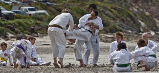 Karate training on the beach at Portland Victoria 7