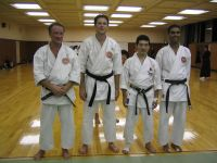 Training with JKA Sensei Seto in his dojo in 2004
