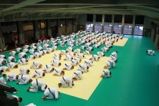 Bowing in to the first session of the training seminar with Kasuya Sensei TOKYO 2017