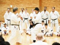 Kasuya Sensei demonstrating with his son Taro Sensei