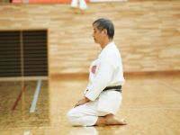 Kasuya Sensei mokoso - meditation - prior to a training session