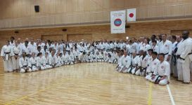 Participants of the 2017 International Training Seminar with Kasauya Sensei
