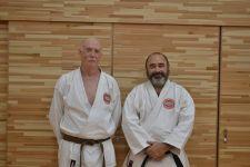 Post grading photo of Sensei Osmar Couto 4th Dan and Sensei Stephen Shepherd 1st Dan TOKYO 2017