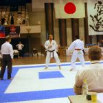 Sensei Edward (Mirrabooka and Baldivis dojo) competing in the open jyu kumite event at the WSKF World Championships