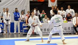 Sparring at the 2017-WSKF World Championships