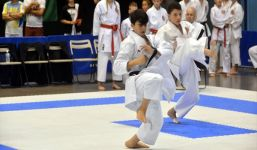 Team kata at the WSKF World Championships
